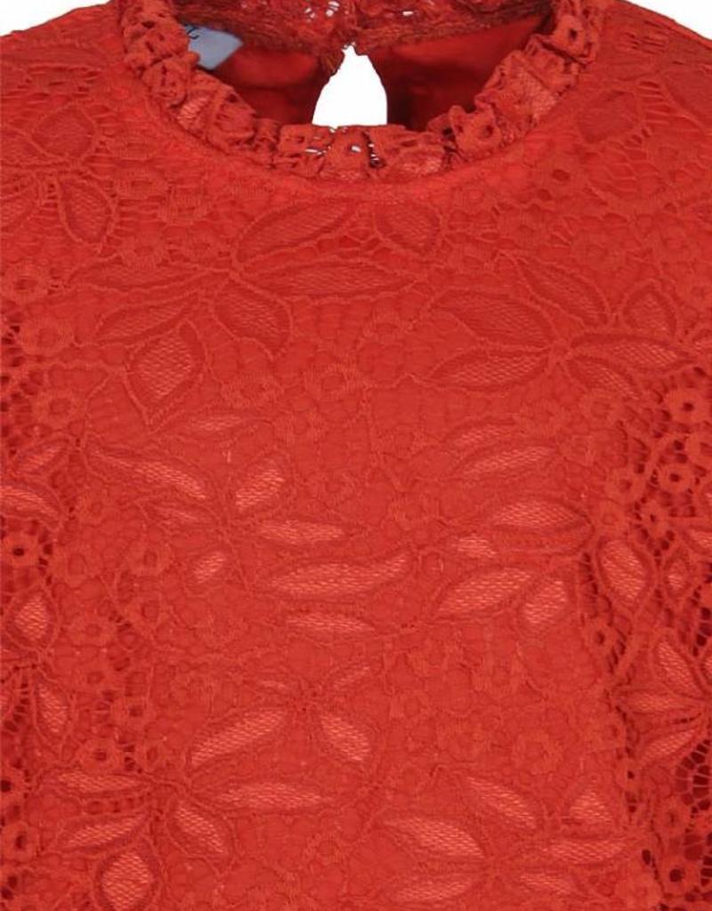 D-XEL shirt oranje van kant