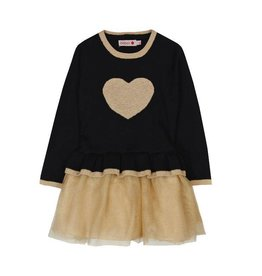 Boboli Boboli Knitwear combined dress for girl BLACK