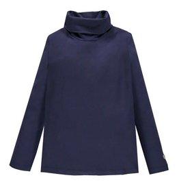 Mek Mek shirt donkerblauw met col