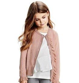 Creamie Vest oud roze met roesel en glitters