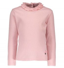 Le Chic Chic Shirt roze met roesel kraag