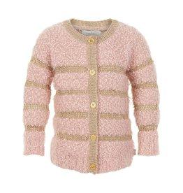 Creamie Creamie vest oudroze met gouden gliter strepen