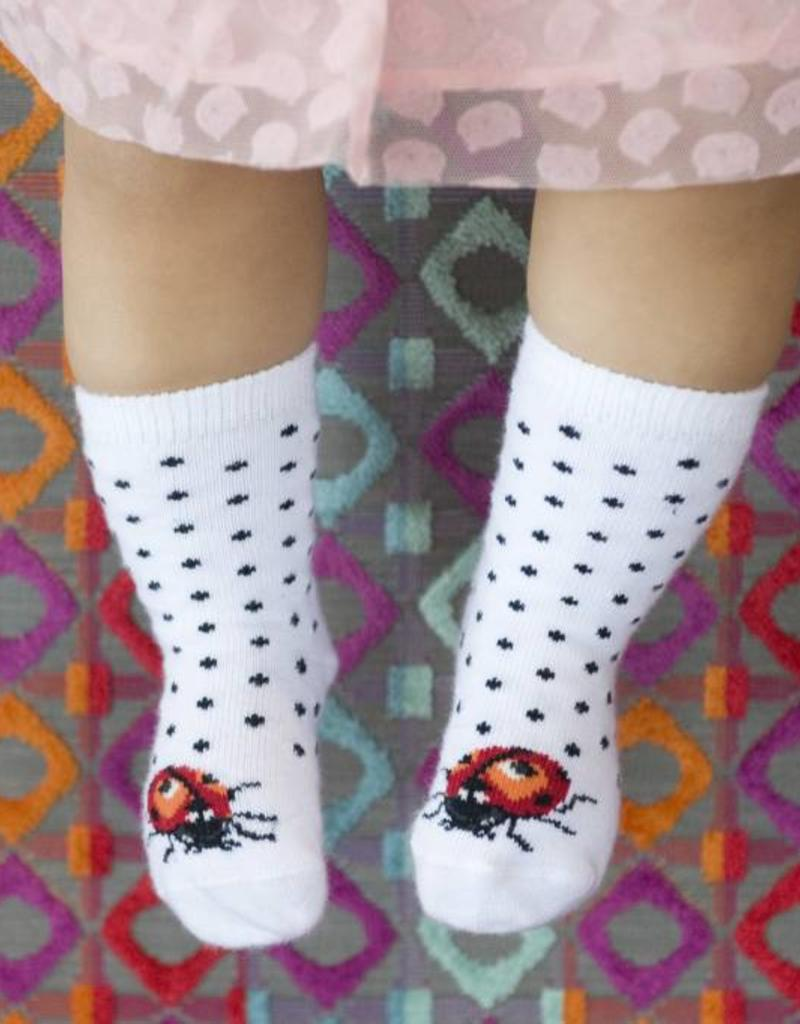 Boboli Bonnie Doon Sokje wit met lievheersbeestje