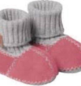 Fellhof Fellhof babyslofjes grijs met roze
