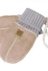 Fellhof handschoentjes lichtblauw met crème