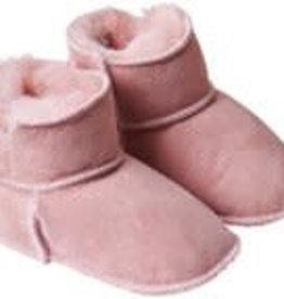 Fellhof Fellhof babyslof/schoentjes roze met bont