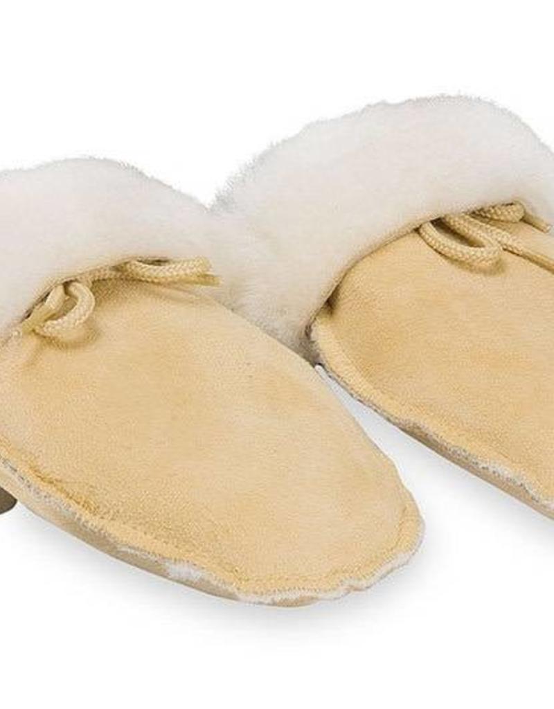 Fellhof Fellhof handschoentjes beige met crème bont