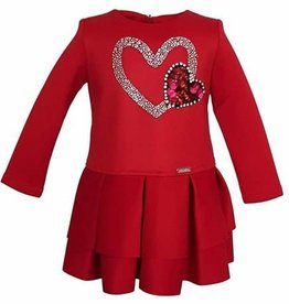 Conguitos Conguitos jurk rood met hart