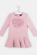 Conguitos Conguitos jurk roze met bont en parelhart
