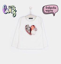 Conguitos Conguitos shirt  met veeghart en licht