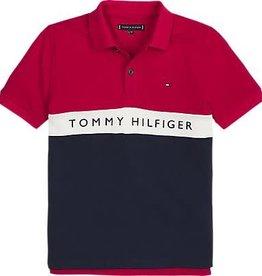 Tommy Hilfiger Tommy Hilfiger Polo donkerblauw met rood bovenstuk