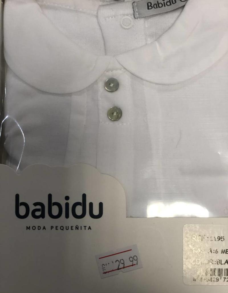 Babidu Babidu Romper wit met bl0esje aan een stuk