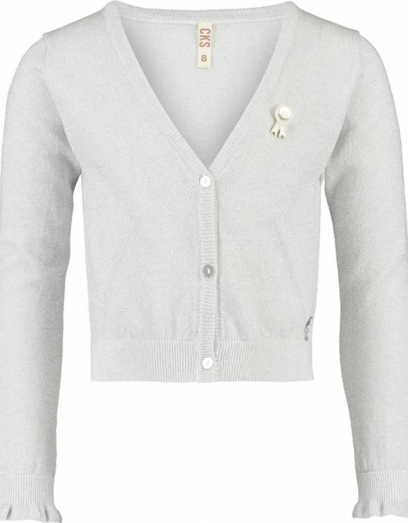 CKS CKS Vest zilver met gouden manchetten