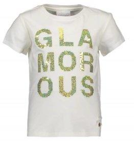 Le Chic Le Chic Shirt off white met gouden glitter opdruk opdruk