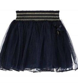 Le Chic Le Chic Rok petticoat donkerblauw met goud elastische band en bies