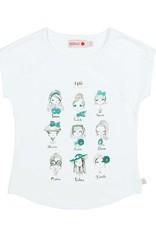 Boboli Boboli Stretch knit t-Shirt for girl WHITE-11
