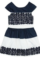 Boboli Boboli Satin dress for girl NAVY