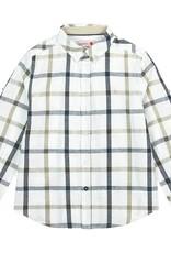Boboli Boboli Linen shirt long sleeves check for boy checks