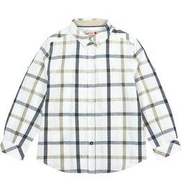 Boboli Boboli Linen shirt long sleeves check for boy checks