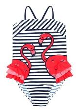 Boboli Boboli Swimsuit striped for girl print