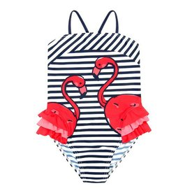 Boboli Boboli Swimsuit striped for girl print