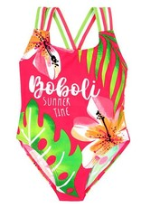 "Boboli Boboli Swimsuit ""floral"" for girl geranium"