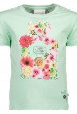Le Chic Le Chic Shirt mint goen met  bloemen
