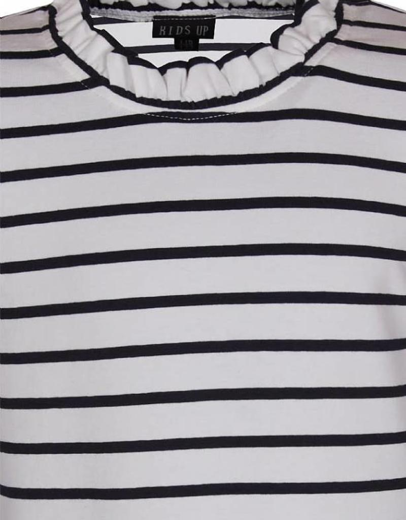 KIDSUP KIDS UP Shirt donker blauw wit gestreept