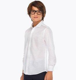 Mayoral Mayoral Basic linen l/s shirt White - 00872