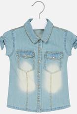 Mayoral Mayoral Glitter denim blouse Bleached - 03106