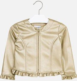 Mayoral Mayoral Leatherette ruffle jacket Golden - 03404