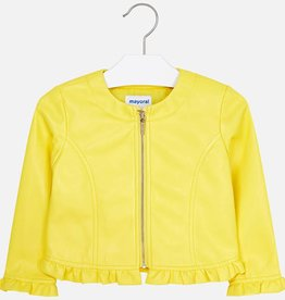 Mayoral Mayoral Leatherette ruffle jacket Yellow - 03404