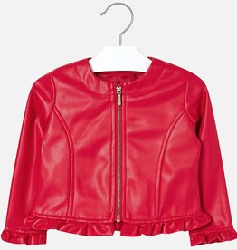 Mayoral Mayoral Leatherette ruffle jacket Red - 03404