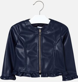 Mayoral Mayoral Leatherette ruffle jacket Navy - 03404