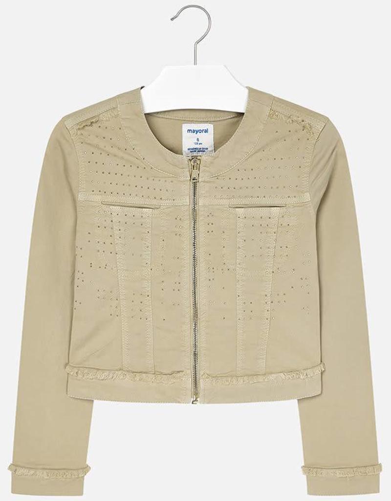 Mayoral Mayoral Twill jacket applique Ocher - 06408