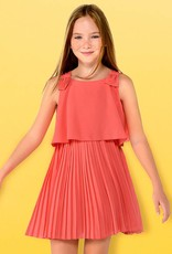 Mayoral Mayoral Pleated dress Coral - 06930