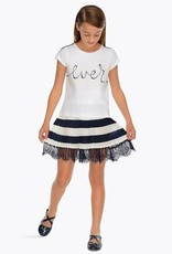 Mayoral Mayoral Pleated striped skirt Navy - 06906