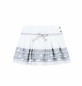 Boboli Boboli Skirt with gauze for girl WHITE