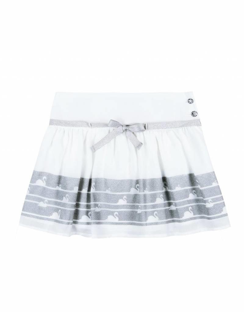 Boboli Boboli Skirt with gauze for girl WHITE