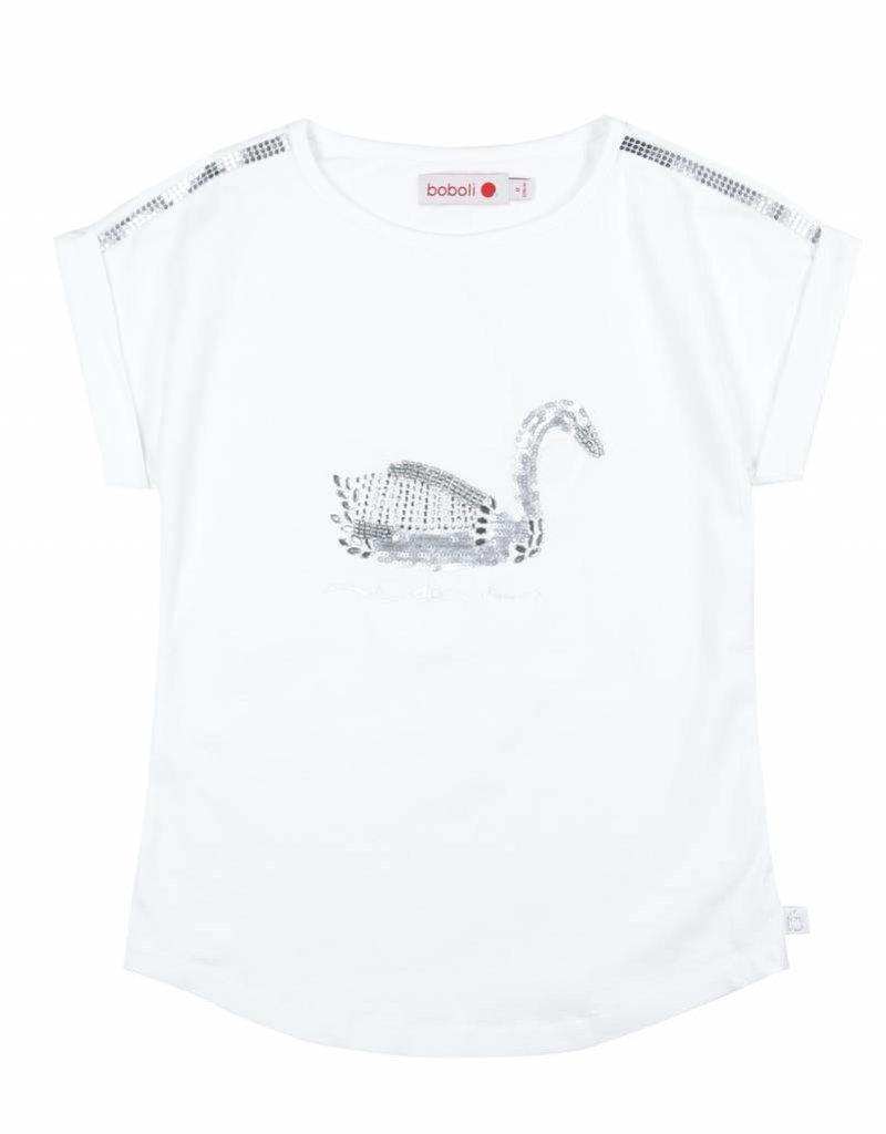 Boboli Boboli Stretch knit t-Shirt for girl WHITE-8
