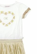 Boboli Boboli Combined dress for girl SAND