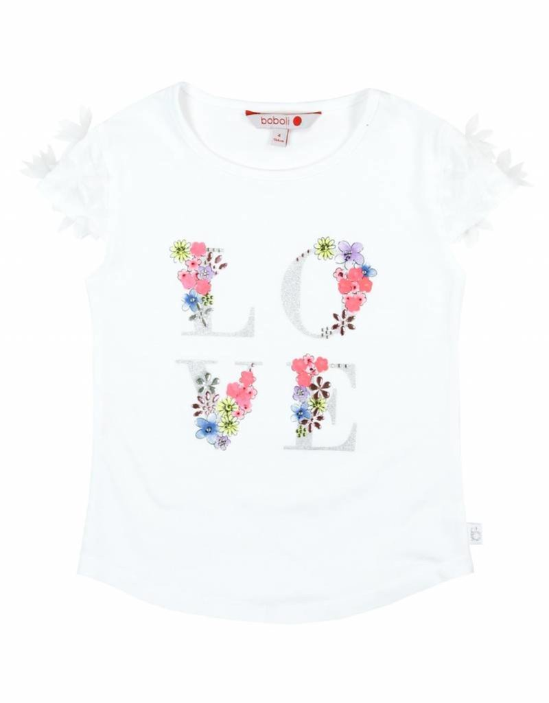 Boboli Boboli Stretch knit t-Shirt for girl WHITE-12