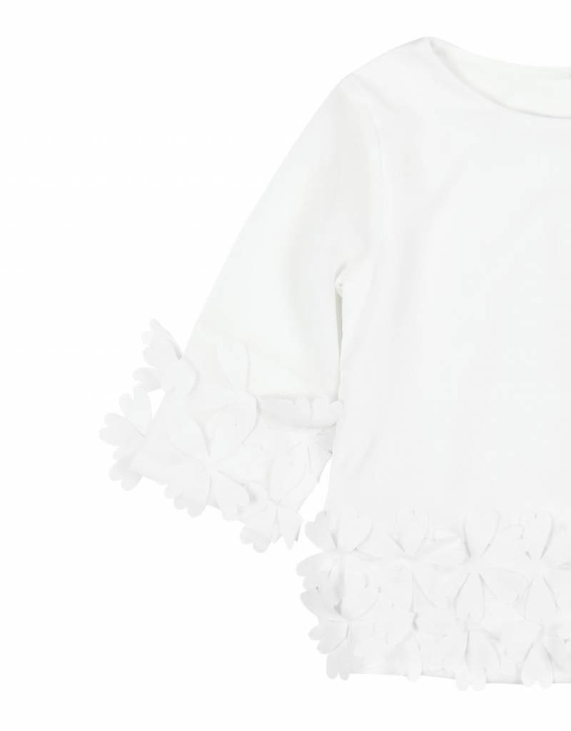 Boboli Boboli Blouse combined for girl WHITE