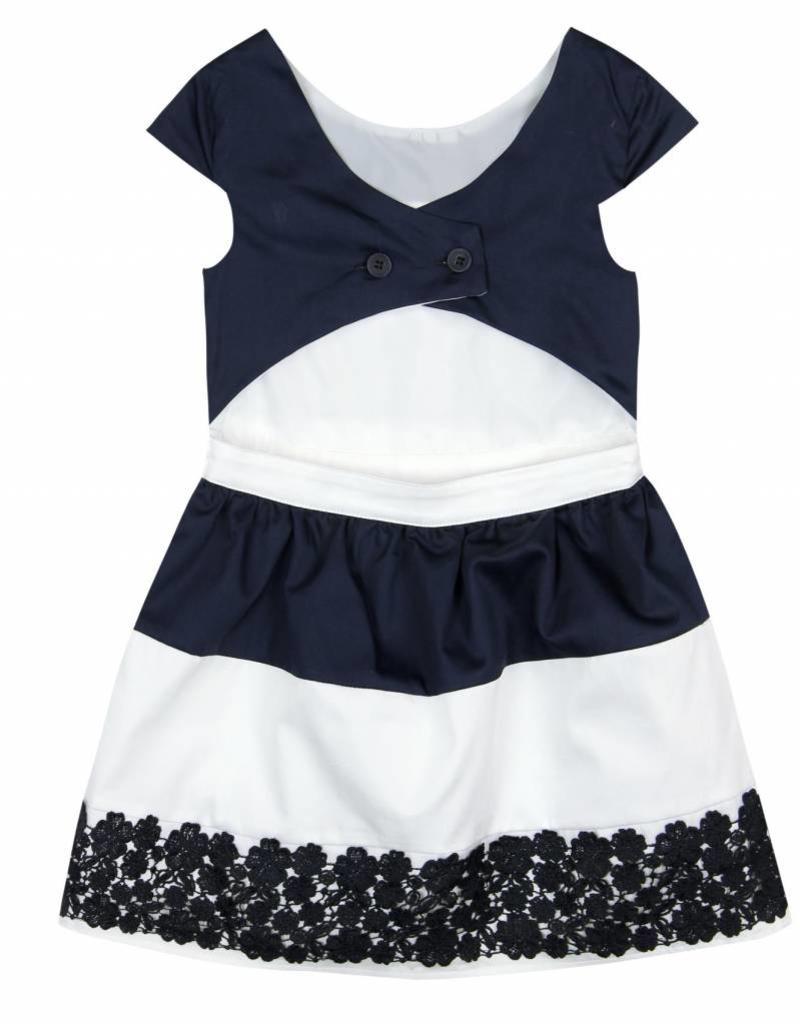 Boboli Boboli Satin dress for girl NAVY