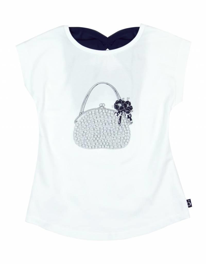Boboli Boboli Stretch knit t-Shirt for girl WHITE-7
