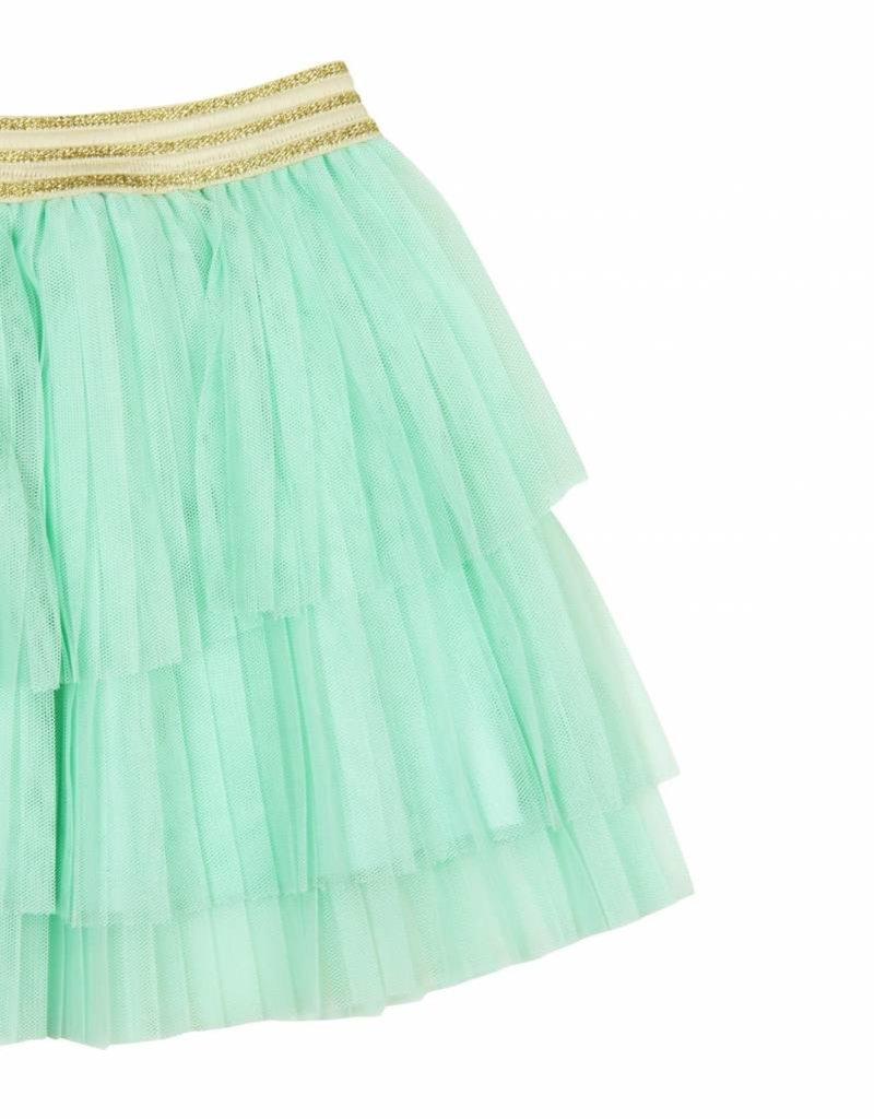 Boboli Boboli Tulle skirt for girl aquamarine
