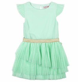 Boboli Boboli Tulle dress for girl aquamarine