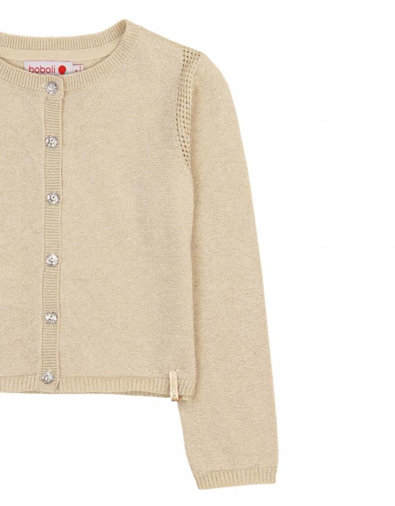 Boboli Boboli Knitwear jacket for girl SAND