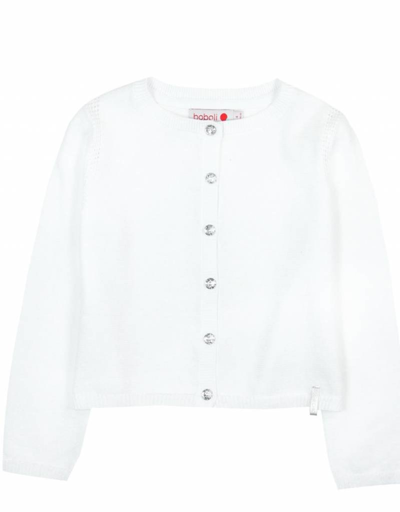 Boboli Boboli Knitwear jacket for girl WHITE-2