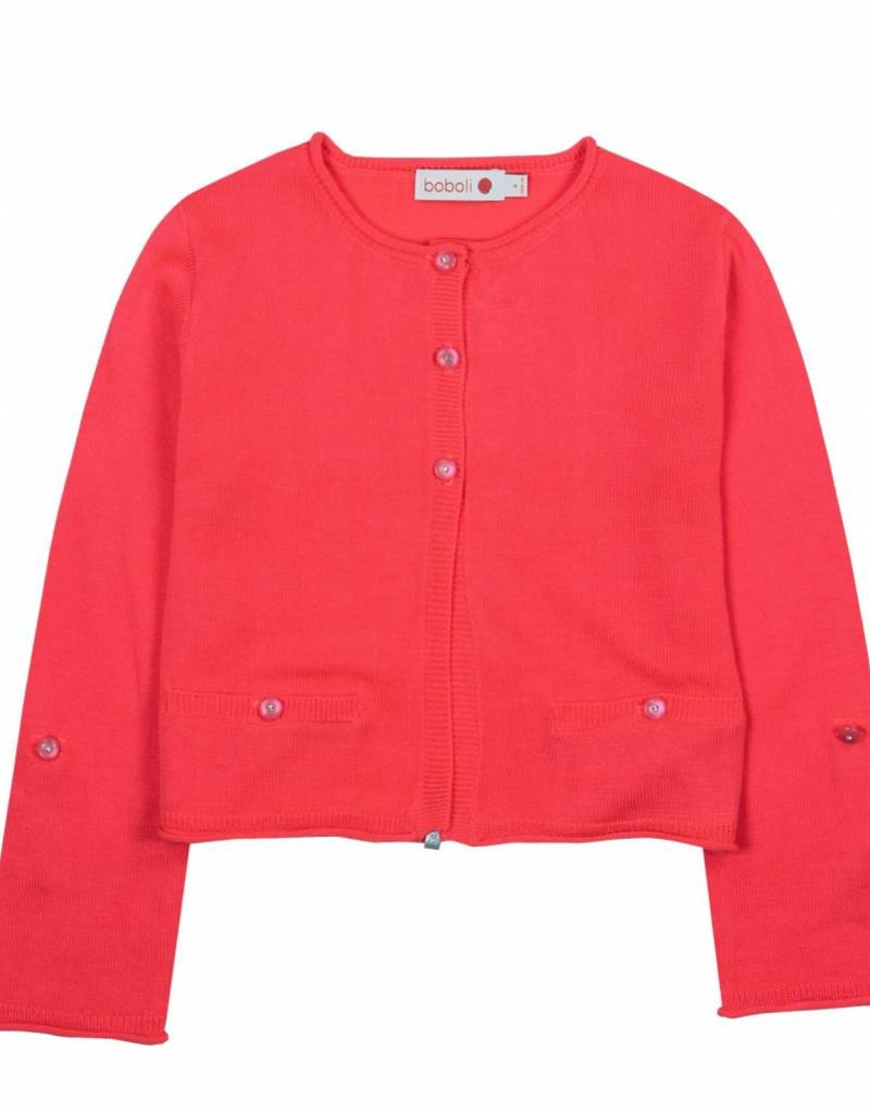 Boboli Boboli Knitwear jacket for girl azalea